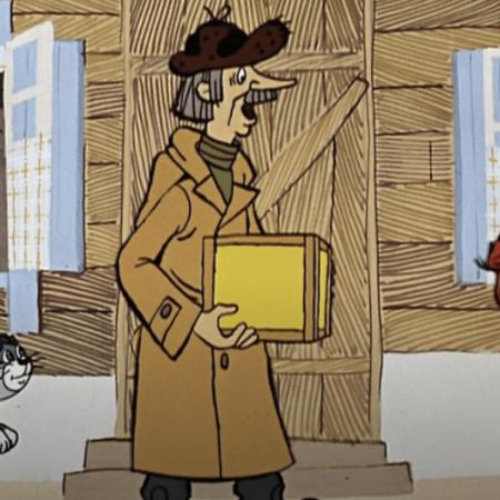 Картинка с почтальоном печкиным и посылкой